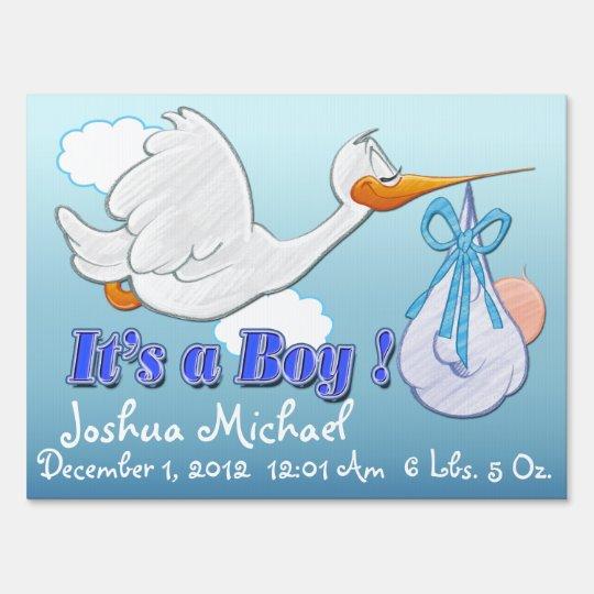 It's a Boy - Stork Keepsake Yard Sign