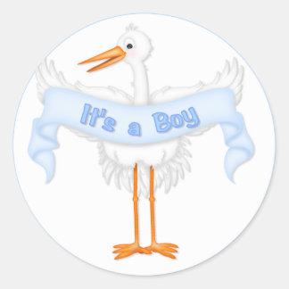 It's a Boy Stork Sticker
