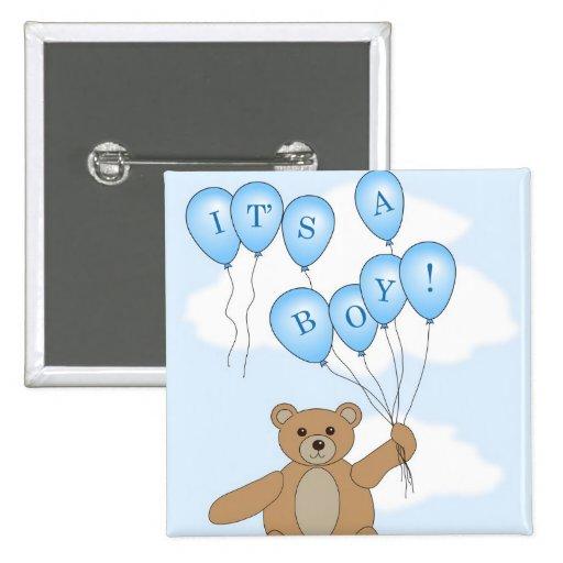 It's a boy Teddy Bear Button