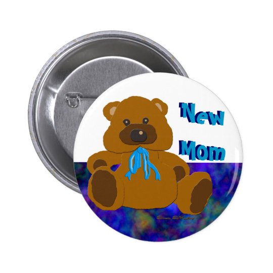 """It's a Boy"" Teddy Bear Collection Pinback Button"