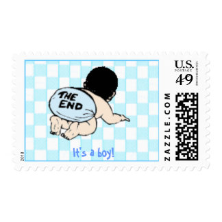 """It's a boy! -""""the end"""" postage"""