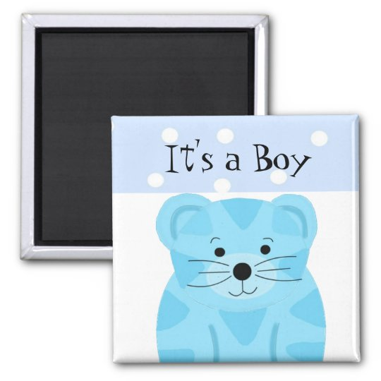 It's a Boy Tiger Baby Birth Announcement Magnet