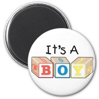 It's A Boy Toy Blocks Fridge Magnet