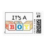 It's A Boy Toy Blocks Postage Stamp
