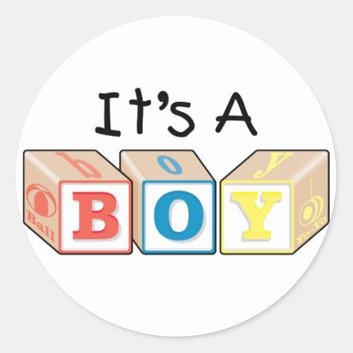 It's A Boy Toy Blocks Sticker