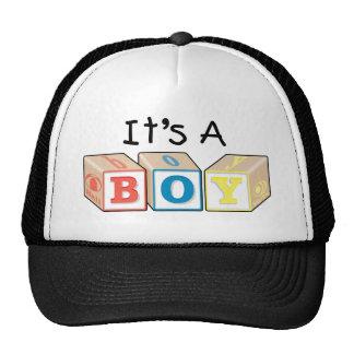 It's A Boy Toy Blocks Trucker Hat