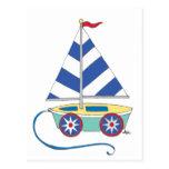 It's a boy! Toy Sailboat Postcard