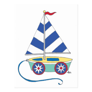 It's a boy! Toy Sailboat Postcard