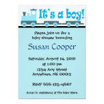 """It's A Boy!""  Toy Train Baby Shower Invitation"