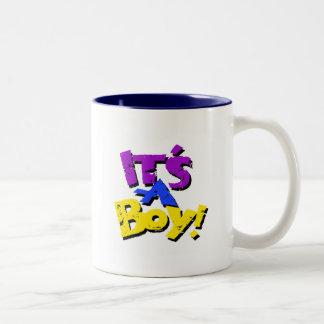 Its A Boy Two-Tone Coffee Mug