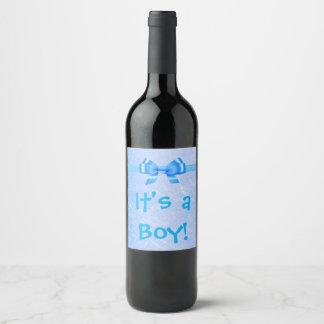 """""""It's a Boy"""" Wine Bottle Label"""