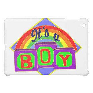 It's a boy with rainbow colors iPad mini case