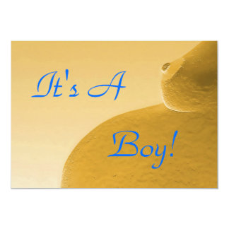 It's A Boy Yellow Announcement