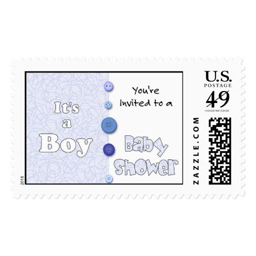 It's a Boy You're Invited to a Baby Shower Stamps