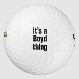 its a boyd thing pack of golf balls