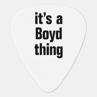 its a boyd thing guitar pick