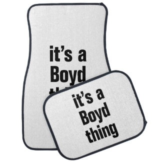 its a boyd thing floor mat