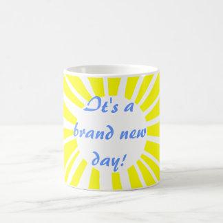 It's a brand new day! coffee mug