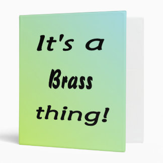 It's a brass thing! 3 ring binder