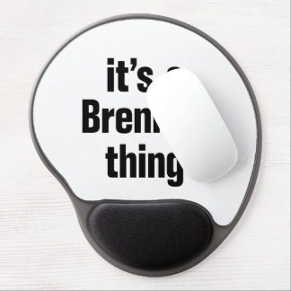 its a brennan thing gel mouse pad