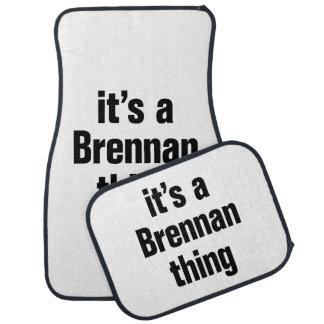 its a brennan thing floor mat
