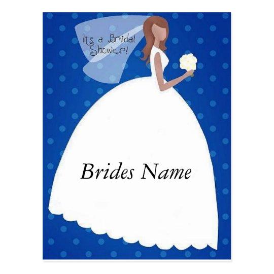 It's a Bridal Shower Postcard