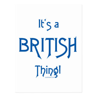 It's a British Thing! Postcard
