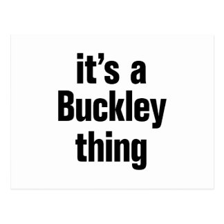 its a buckley thing postcard