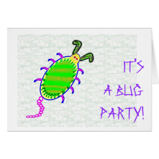 IT'S A BUG PARTY! CARD