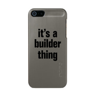 its a builder thing metallic phone case for iPhone SE/5/5s