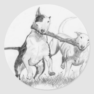 It's A Bull Terrier Thing! Classic Round Sticker