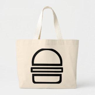 It's a Burger! (Jumbo Tote) Large Tote Bag