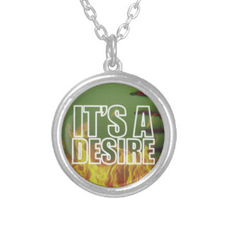It's A Burning Desire Fastpitch Softball Silver Plated Necklace