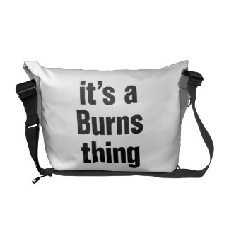 its a burns thing messenger bag