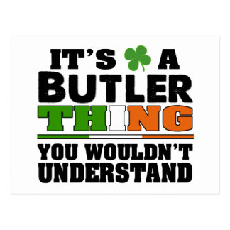 It's a Butler Thing You Wouldn't Understand. Postcard