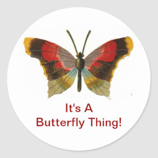 It's A Butterfly Thing Classic Round Sticker