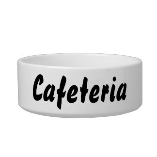 It's a cafeteria thing! bowl