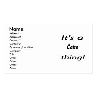 It's a cake thing! business cards