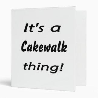 It's a cakewalk thing! 3 ring binder