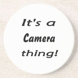 It's a camera thing! sandstone coaster