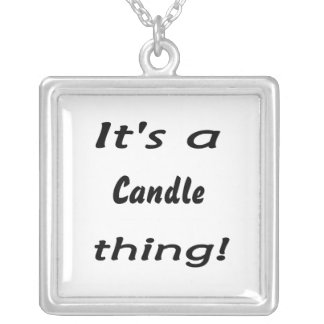 It's a candle thing! square pendant necklace