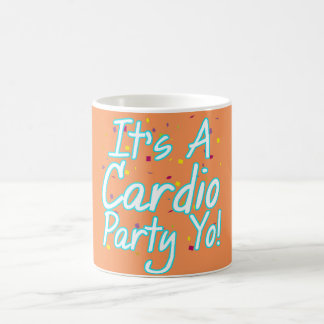 It's a Cardio Party Yo! Turquoise Logo Mug