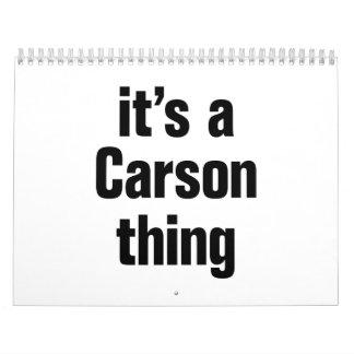 its a carson thing calendar