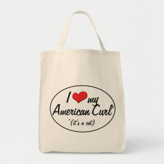 It's a Cat! I Love My American Curl Canvas Bag