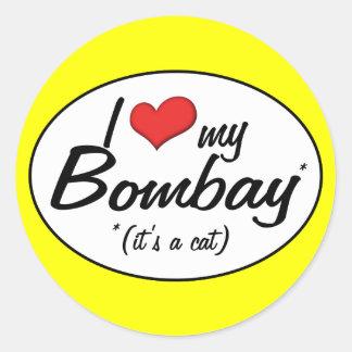 It's a Cat! I Love My Bombay Classic Round Sticker