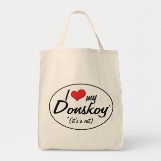 It's a Cat! I Love My Donskoy Tote Bag