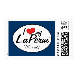 It's a Cat! I Love My LaPerm Postage