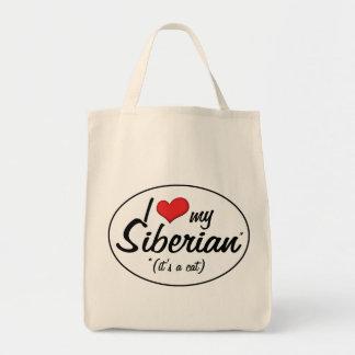 It's a Cat! I Love My Siberian Tote Bag
