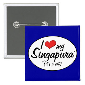 It's a Cat! I Love My Singapura Pin