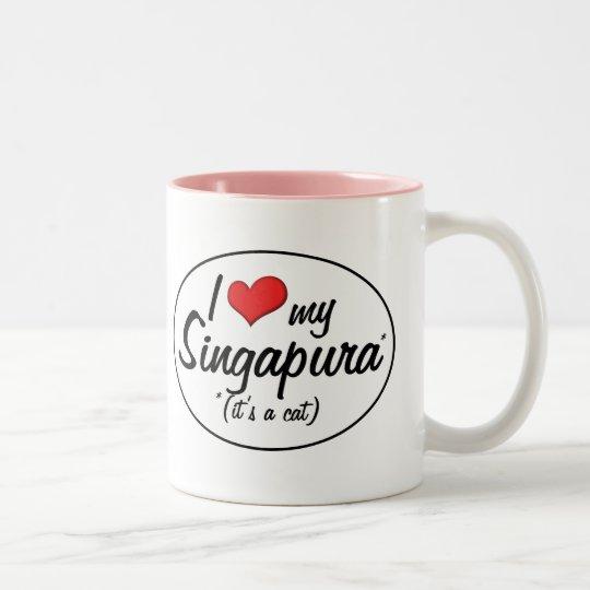 It's a Cat! I Love My Singapura Two-Tone Coffee Mug